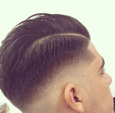 Fade Comb Over with a Shave Line