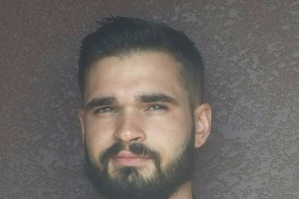 Faded Comb Over Haircut with a Beard