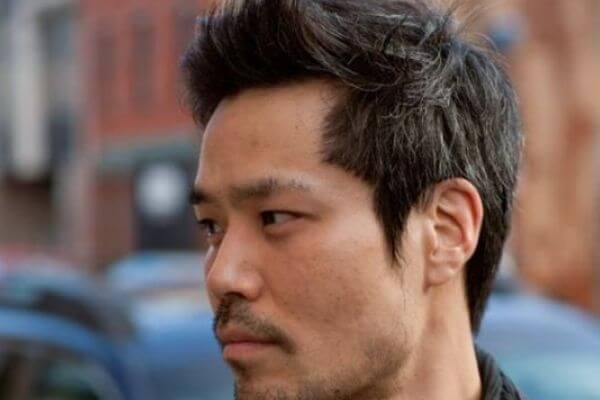 Focused Front Hairstyle for Asian Men