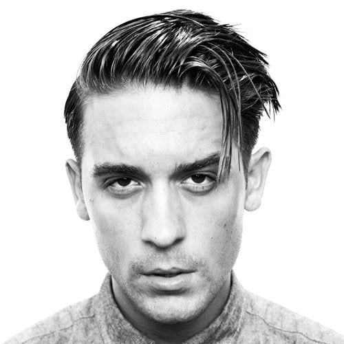 g-eazy comb over haircut greaser hair era
