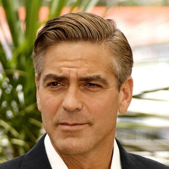 george clooney comb over haircut