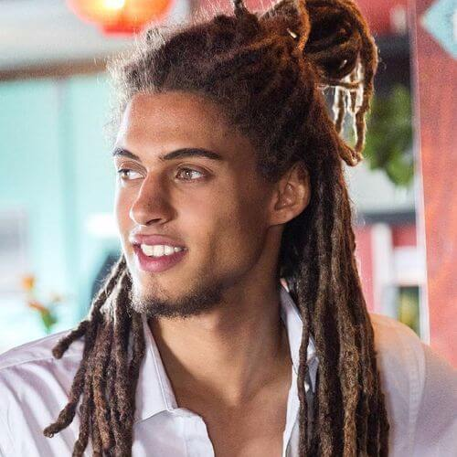 60 cool dread styles for men menhairstylist guy in white t shirt standing outside urmus Choice Image