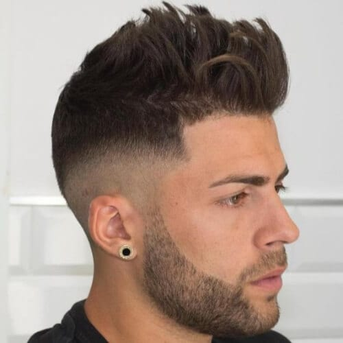 medium mid fade haircut