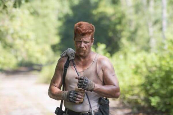 Michael Cudlitz's Reddish Flat Top.