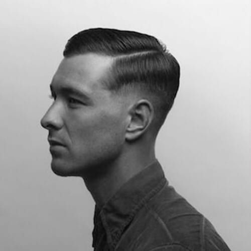 military mid fade haircut