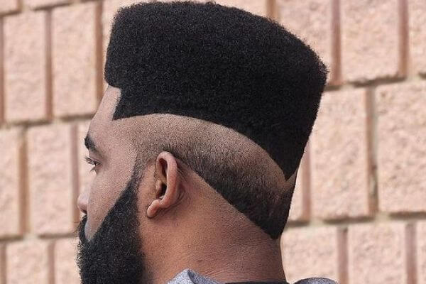Flat Top Haircut with Designs