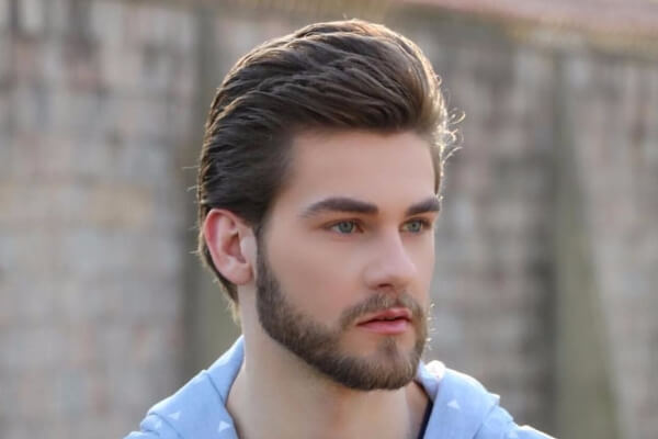 No Clean Cut Side Part and Beard