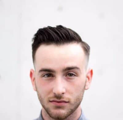Pompadour Comb Over with Short Sides
