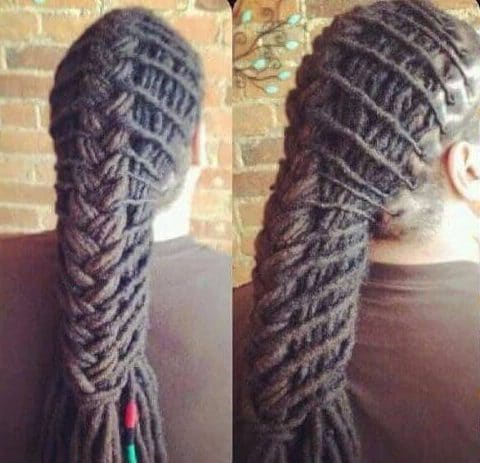braided ponytail dreads