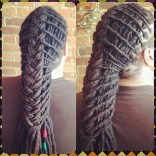 amazing ponytail dreads