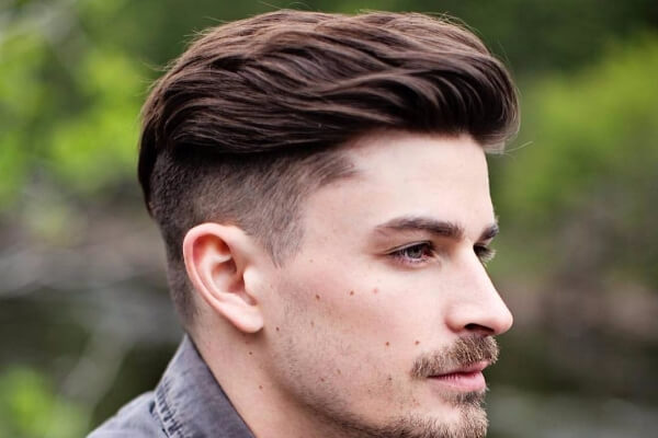 Razor Fade Comb Over and Beard