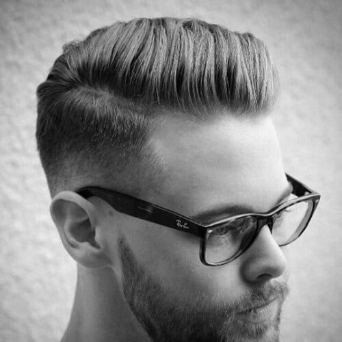 retro mid fade haircut