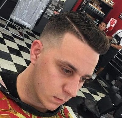 Comb Over with a Shave Line