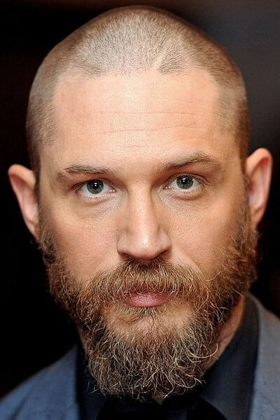 Short buzz cut and long beard