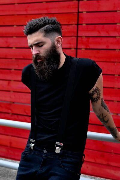 Short Mohawk and Long Beard