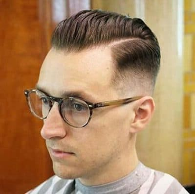 Skin Fade Haircut with Glasses