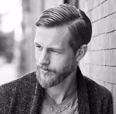 Stylish Comb Over Haircut with Beard