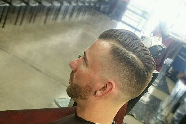 Undercut Comb Over with a Shave Line