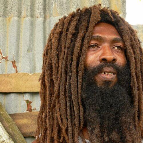 man with long beard and dreads