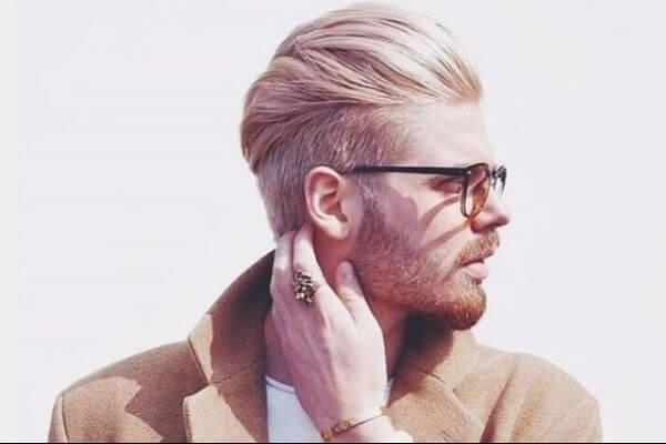 Waved Blonde Haircut