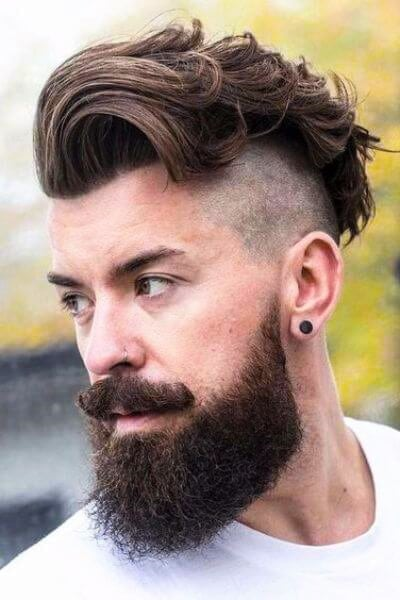 50 bold undercut hairstyle ideas to try out menhairstylist bold undercut hairstyle and long beard urmus Choice Image