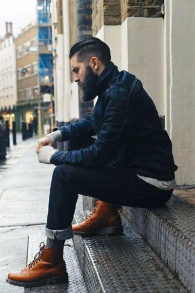 Elegant Undercut and Beard