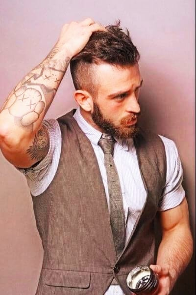 Handsome Undercut and Shor Beard