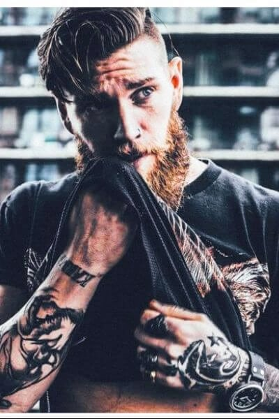 50 bold undercut hairstyle ideas to try out menhairstylist long undercut with beard urmus Choice Image