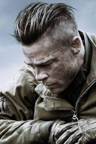 The Brad Pitt Undercut Hairstyle