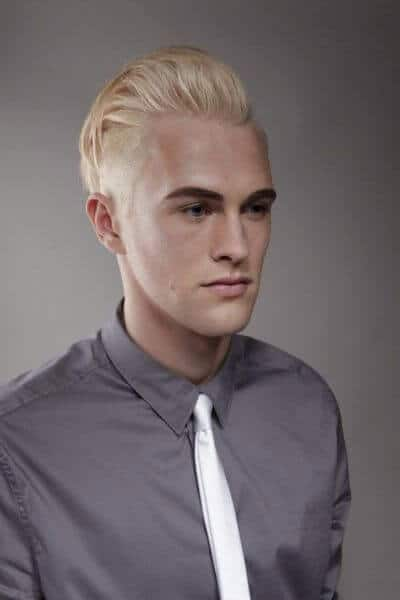 The Long Blonde Quiff Hairstyle