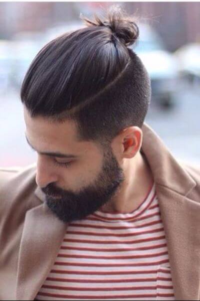 The Long Quiff Hairstyle with Top Knot