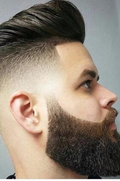 The Neat Quiff with Faded Sides and Textured Beard