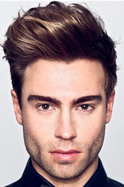 The Wavy Side Quiff Hairstyle
