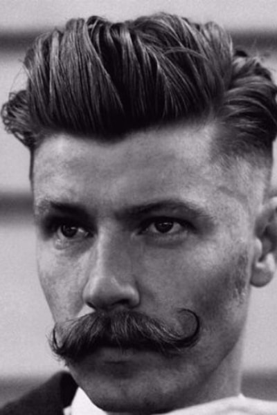 handsome hipster quiff hairstyle
