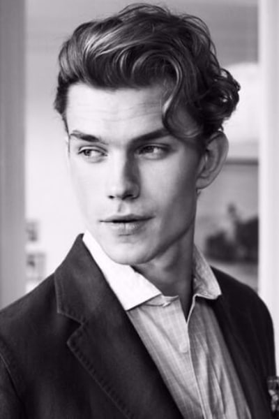 long curly quiff hairstyle