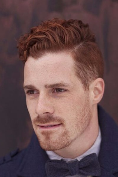 quiff hairstyle red hair