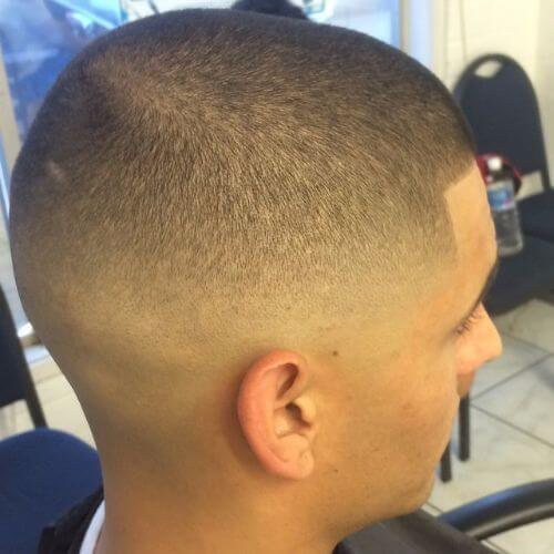 bald fade military haircut