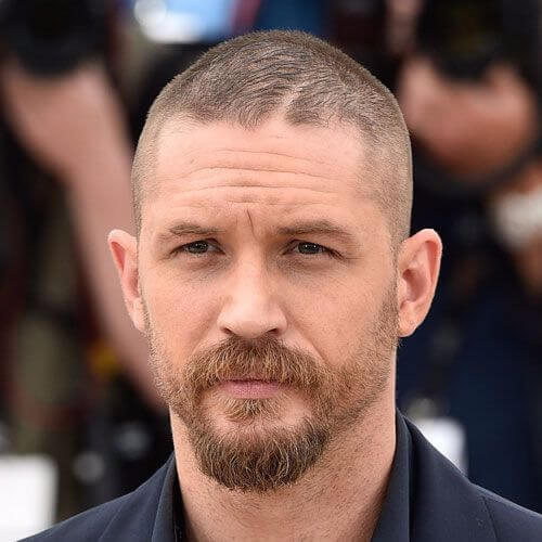 tom hardy buzz cut beard