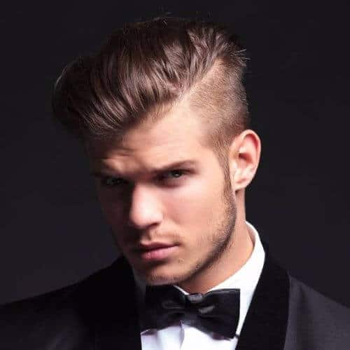 blonde fade and long top hipster haircut
