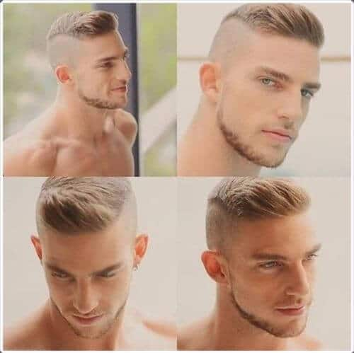 blonde military haircut