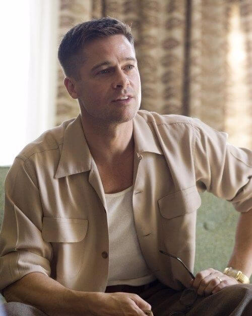 brad pitt buzz military haircut