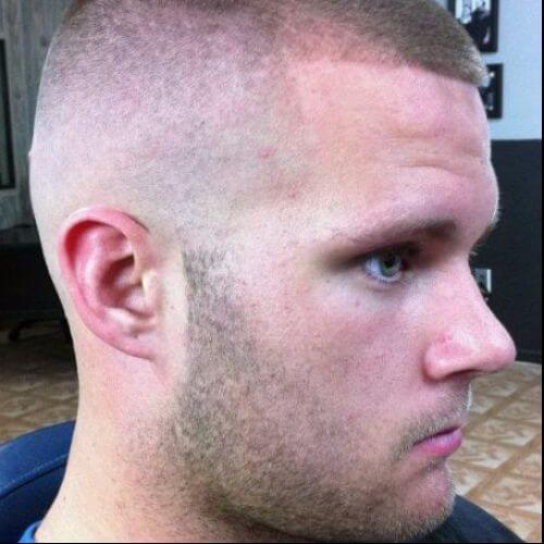buzz cuts and stubble