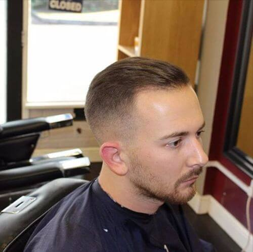 classic military haircut for men with blonde hair