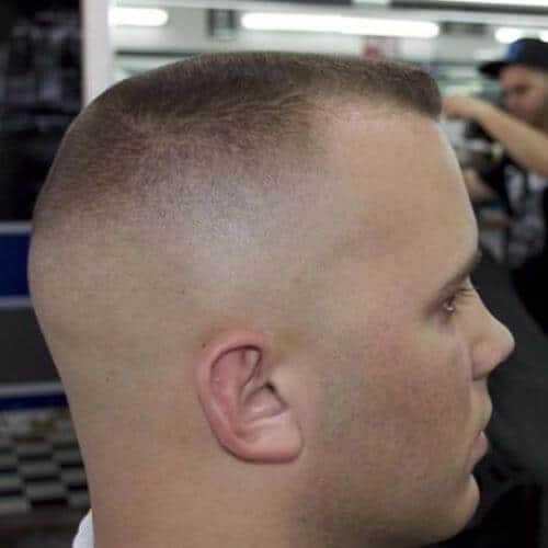 closely shaved buzz cuts