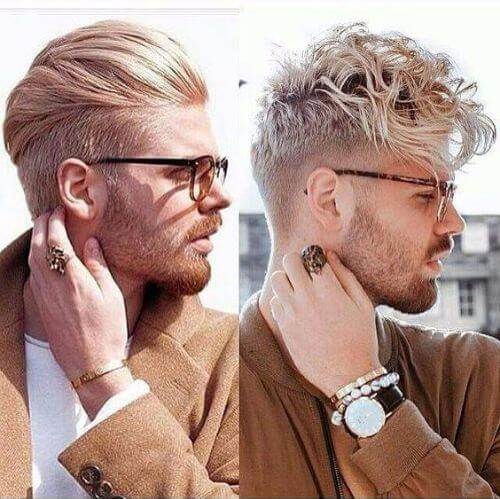 curly and combed hipster haircut