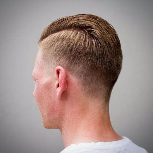dashing military haircut for men with blonde hair