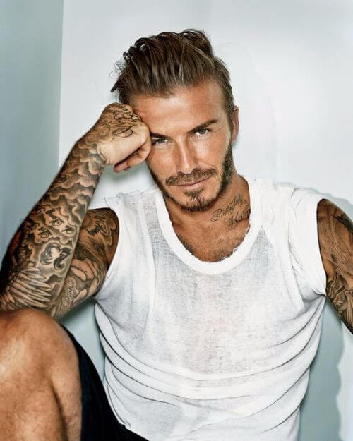 david beckham hair blonde and swept back