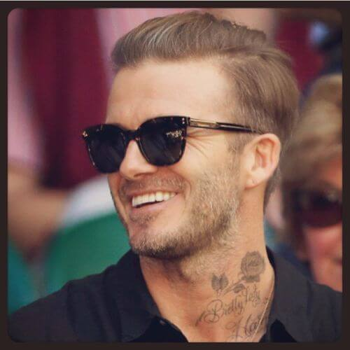 david beckham hair blonde long top