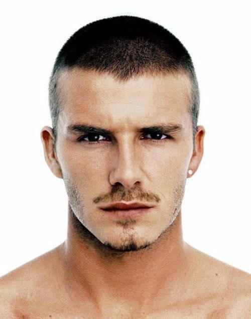 david beckham hair buzz cut