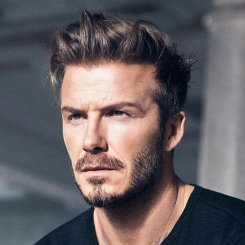 david beckham hair cold messy long top